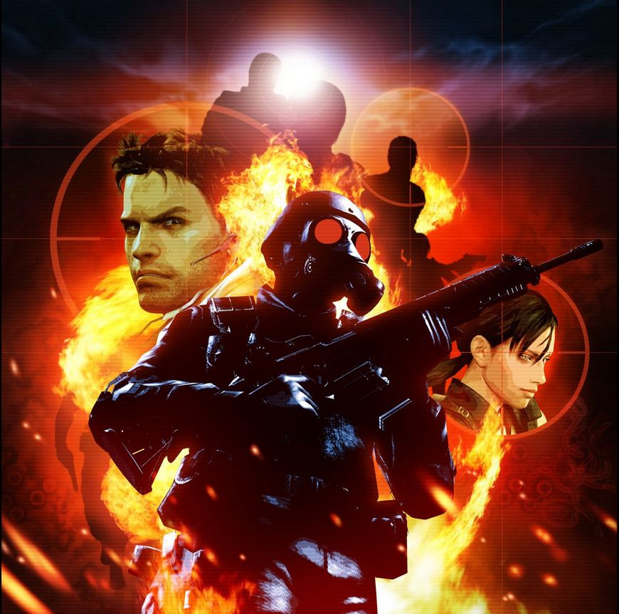 Resident Evil The Mercenaries 3d Teaser Poster With 5 Character