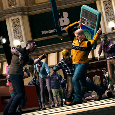 Chainsawed priests in Dead Rising 2, according to the ESRB