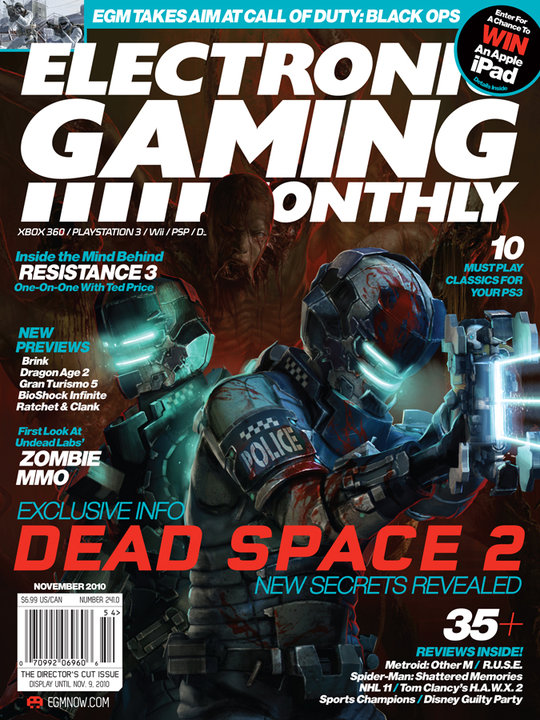 Dead Space 2 featured in next EGM issue