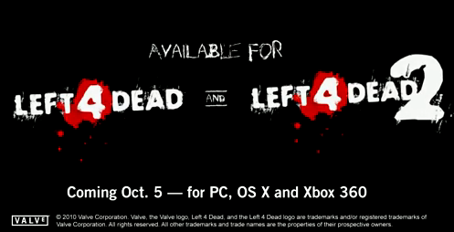 Left 4 Dead 1 and 2 hitting Steam next week for Mac users