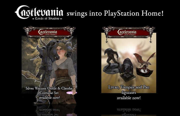 New Castlevania: Lords of Shadow items now available for Playstation Home