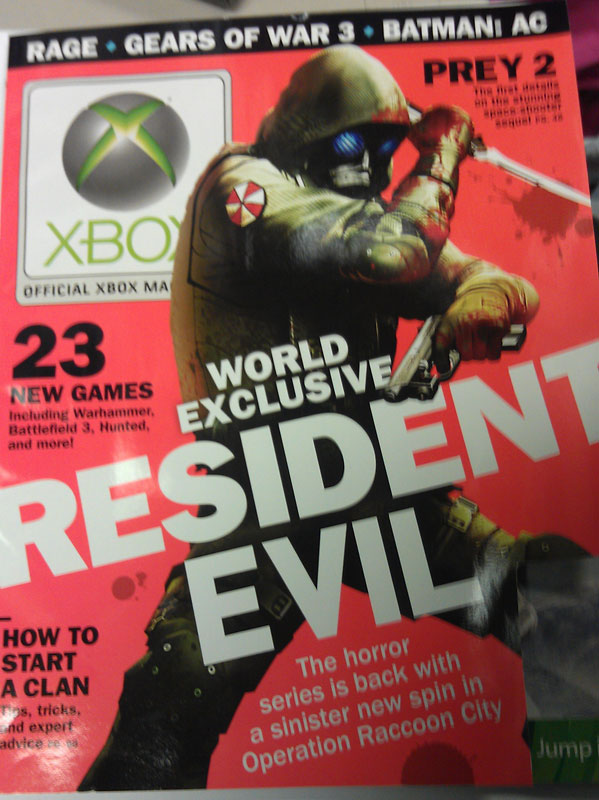 OXM cover shows off a character from Resident Evil: Raccoon City