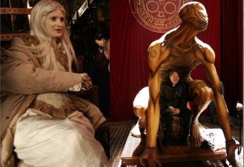 Valtiel and Claudia in Silent Hill: Revelation set pics