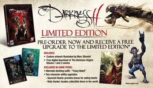 The Darkness 2 preorders upgraded to new Limited Edition