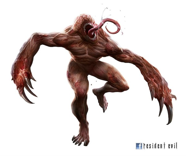 Another piece of exclusive Resident Evil Facebook art brings out the Licker's photogenic side