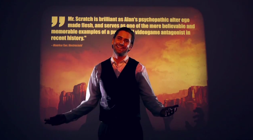 Mr. Scratch responds to the internet reception of Alan Wake's American Nightmare