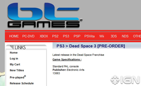 Rumor: Early pre-orders for Dead Space 3 being accepted?