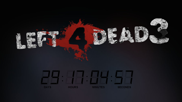 Left 4 Dead 3 countdown appears