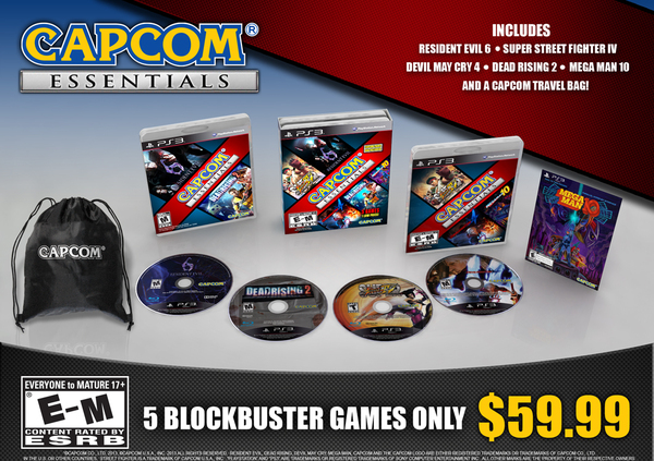 Capcom Essentials launching on October 8, includes Resident Evil 6 and Dead Rising 2