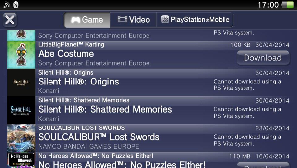 Surprise: Silent Hill Origins and Shattered Memories are NOT Available on the Vita for Europeans