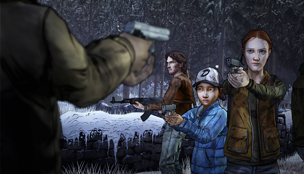 Here's two screens from The Walking Dead S2: Amid the Ruins