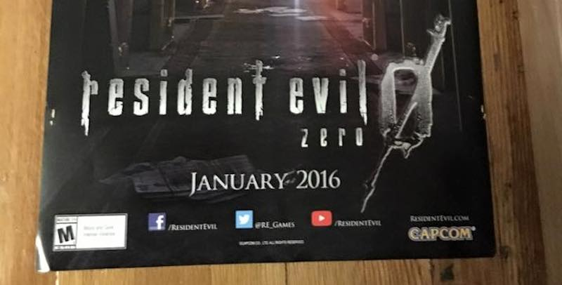 Resident Evil 0 HD Remaster coming in January
