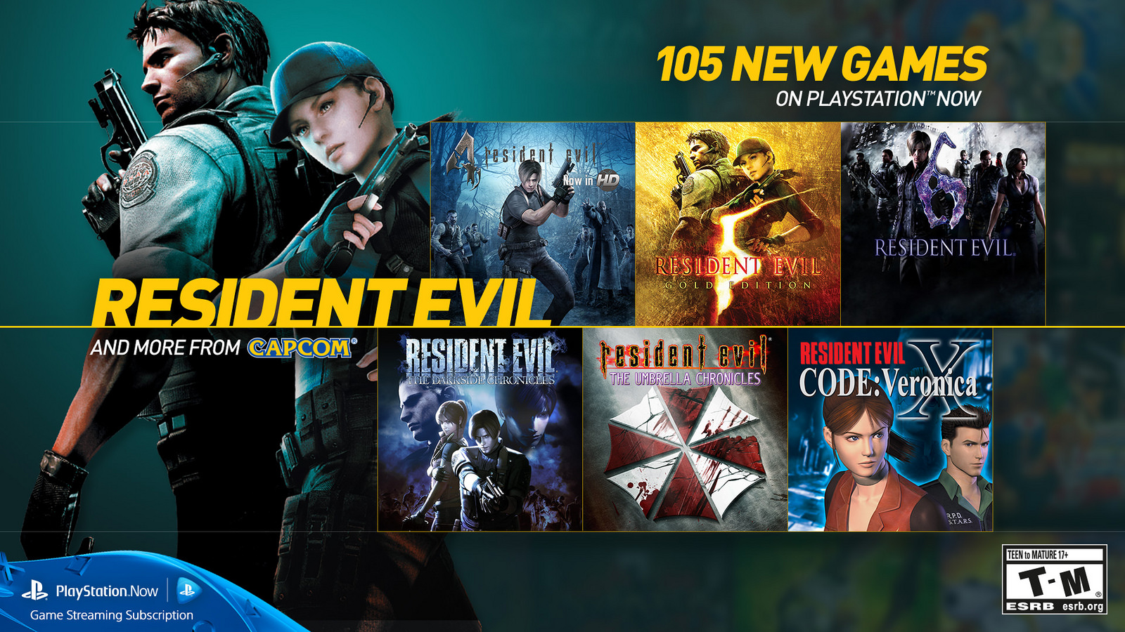 Resident Evil games now available on PlayStation Now