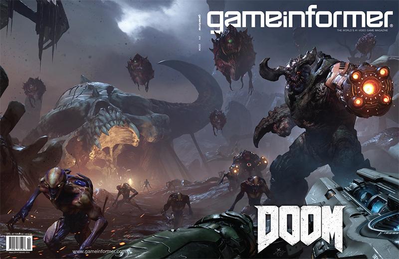 Doom makes Game Informer's February Cover