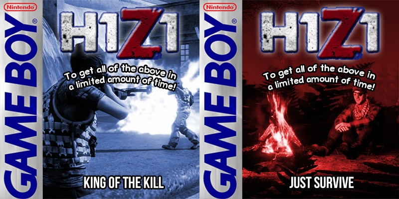 H1Z1 being chopped into two separate games