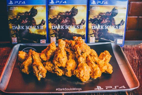 Dark Souls III UK Marketing involves chicken wings, obviously