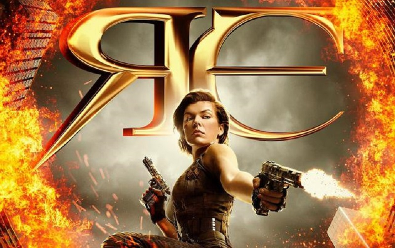 Alice Catches Fire in first Resident Evil: The Final Chapter Poster