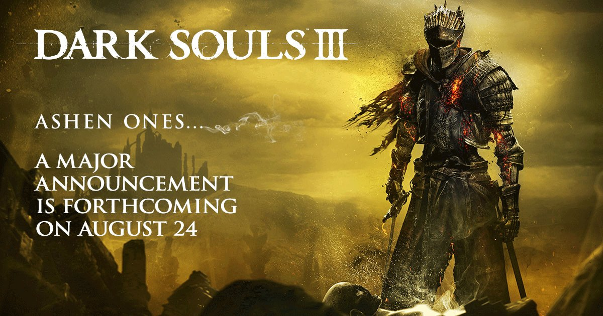 """Major"" Dark Souls 3 Announcement Incoming"