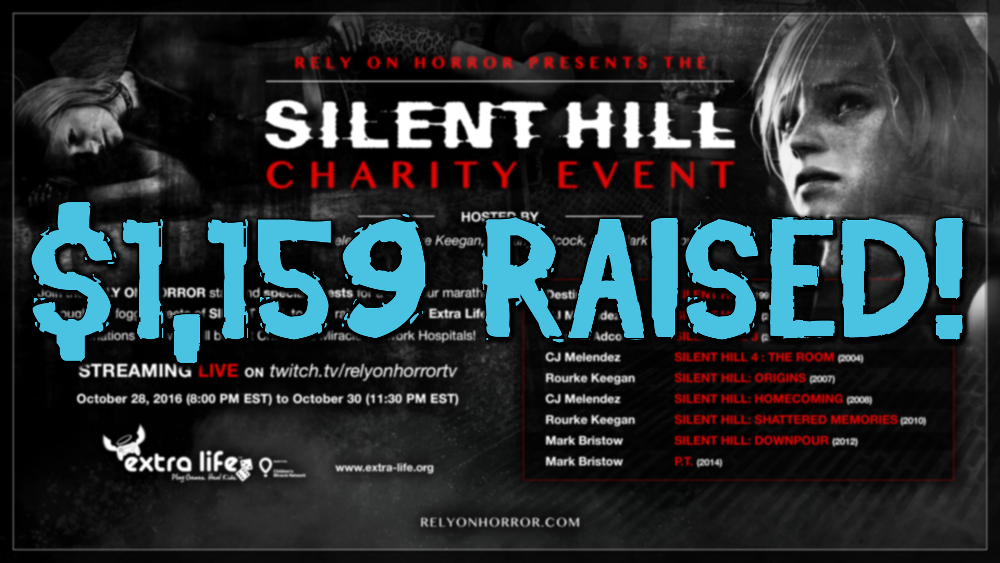 "Rely on Horror Presents ""Silent Streams"": A 48+ Hour Silent Hill Franchise Charity Livestream (Update: That's a Wrap)"