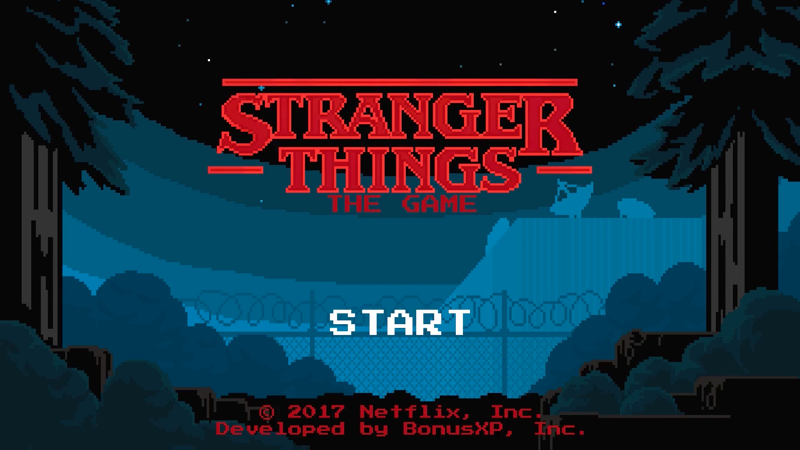 Stranger Things: The Game title screen