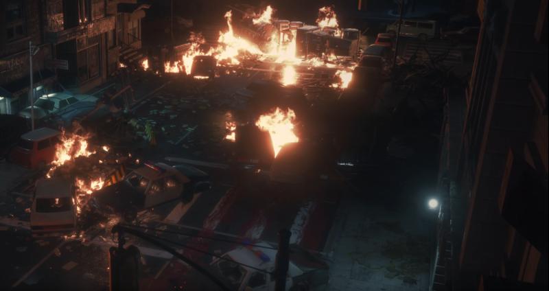 Image result for resident evil 2 truck explosion