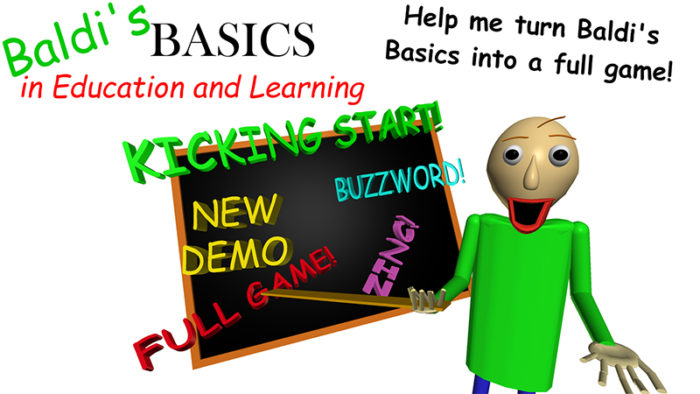 Baldi's Basics becoming a larger, more complete game through Kickstarter campaign