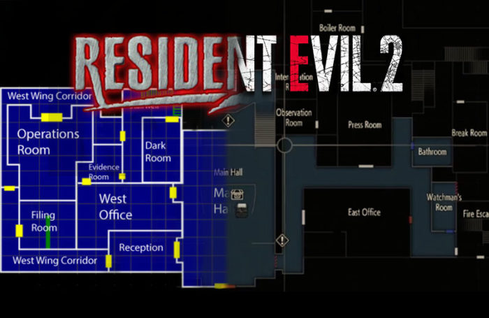 Resident Evil 2's RPD Station: Then and Now