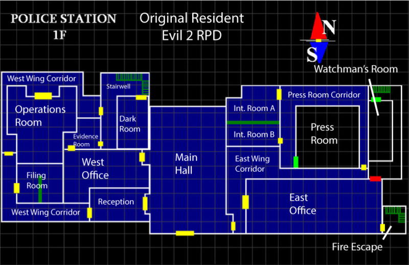 Resident Evil 2 S Rpd Station Then And Now Rely On Horror