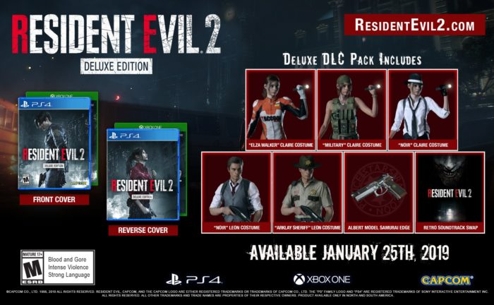 RE2 Remake: First Look at Deluxe Edition Costumes; Easter Eggs Abound