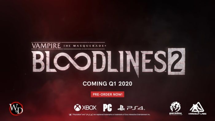 Breaking: Vampire The Masquerade Bloodlines 2 Official, PC, XBO, PS4 2020: Check out the Trailer