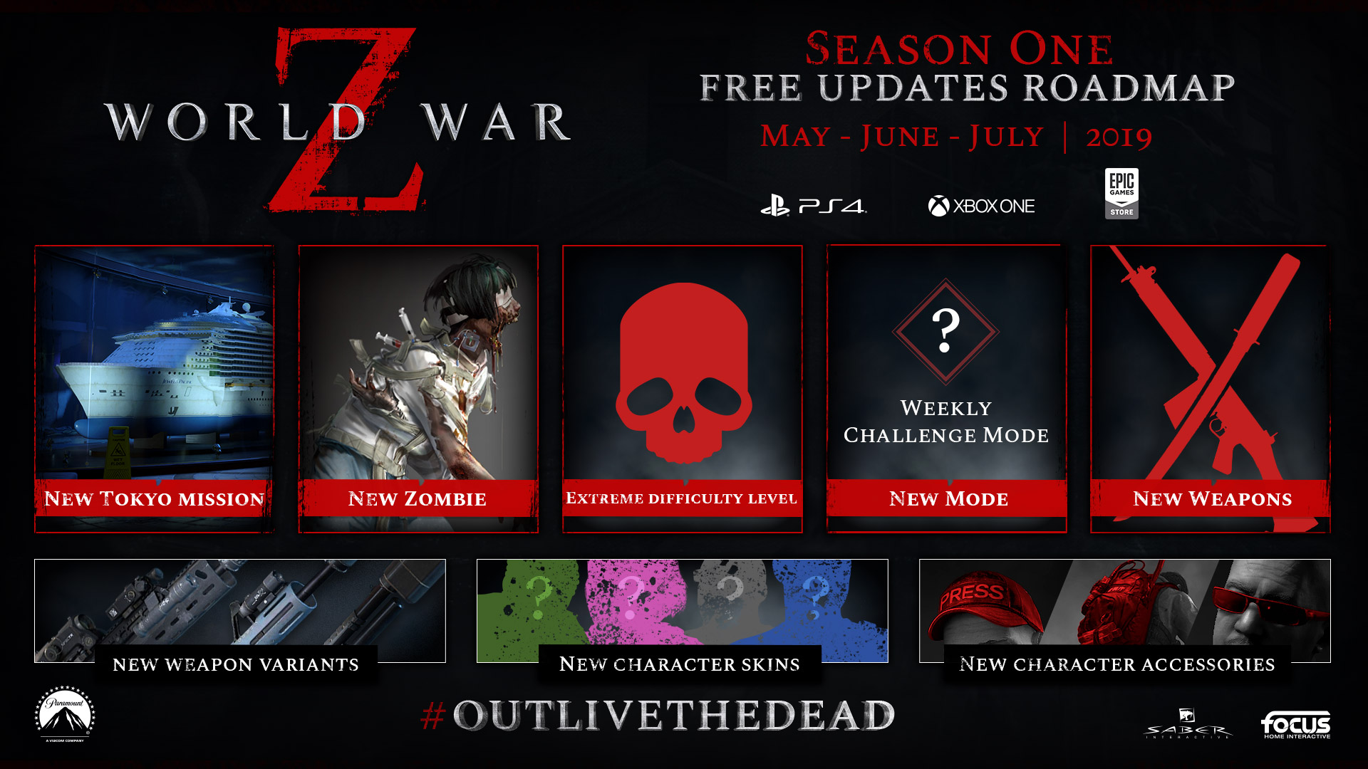 World War Z Reveals Season One Roadmap Cosmetics New Mode New