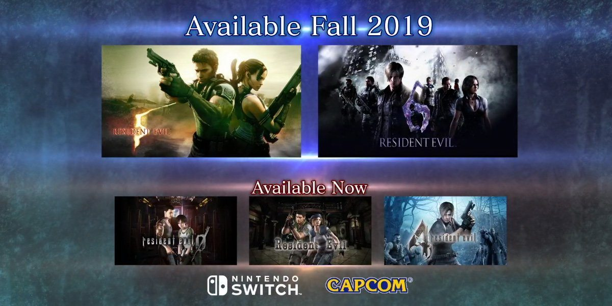 E3 2019 Resident Evil 5 6 Coming To Nintendo Switch Rely On