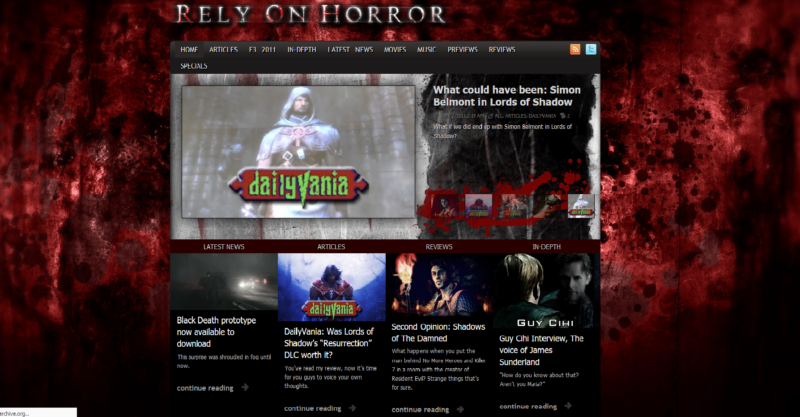 Rely on Horror as it appeared in 2011