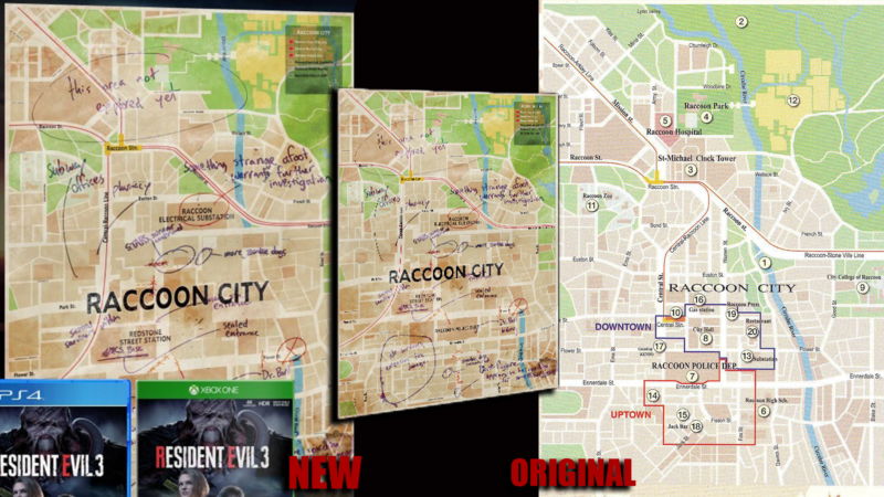resident evil 3 remake downtown map