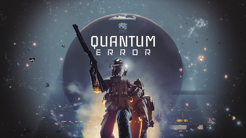 Artwork showing the cover for the horror game Quantum Error