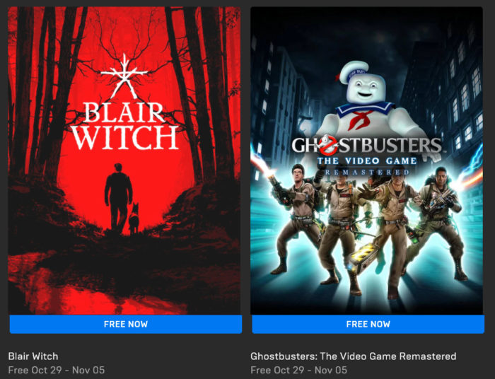 Blair Witch and Ghostbusters: The Video Game Remastered Free on Epic Games Store