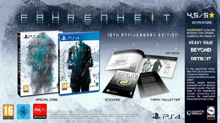 Fahrenheit: 15th Anniversary Edition Launches On PS4
