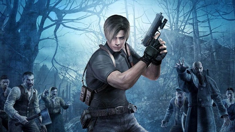 Resident Evil 4 promo shot showing Leon facing the camera