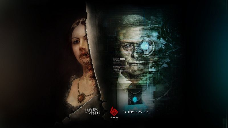 Bloober Team wallpaper showing images from Layers of Fear and Observer