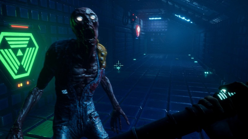 System Shock Remaster screenshot showing an screaming enemy approaching.
