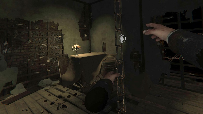 Screenshot from the VR version of Layers of Fear.