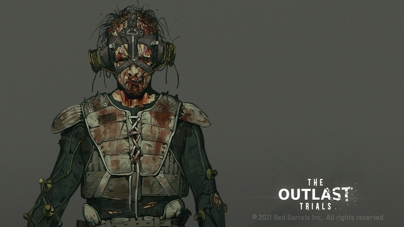 Concept art showing one of the enemies in The Outlast Trials.