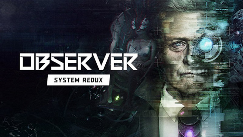 Boxart for Observer: System Redux showing Rutger Hauer's character to one side.
