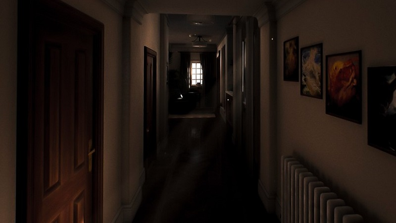 Screenshot from Luto showing a long P.T.-style corridor.